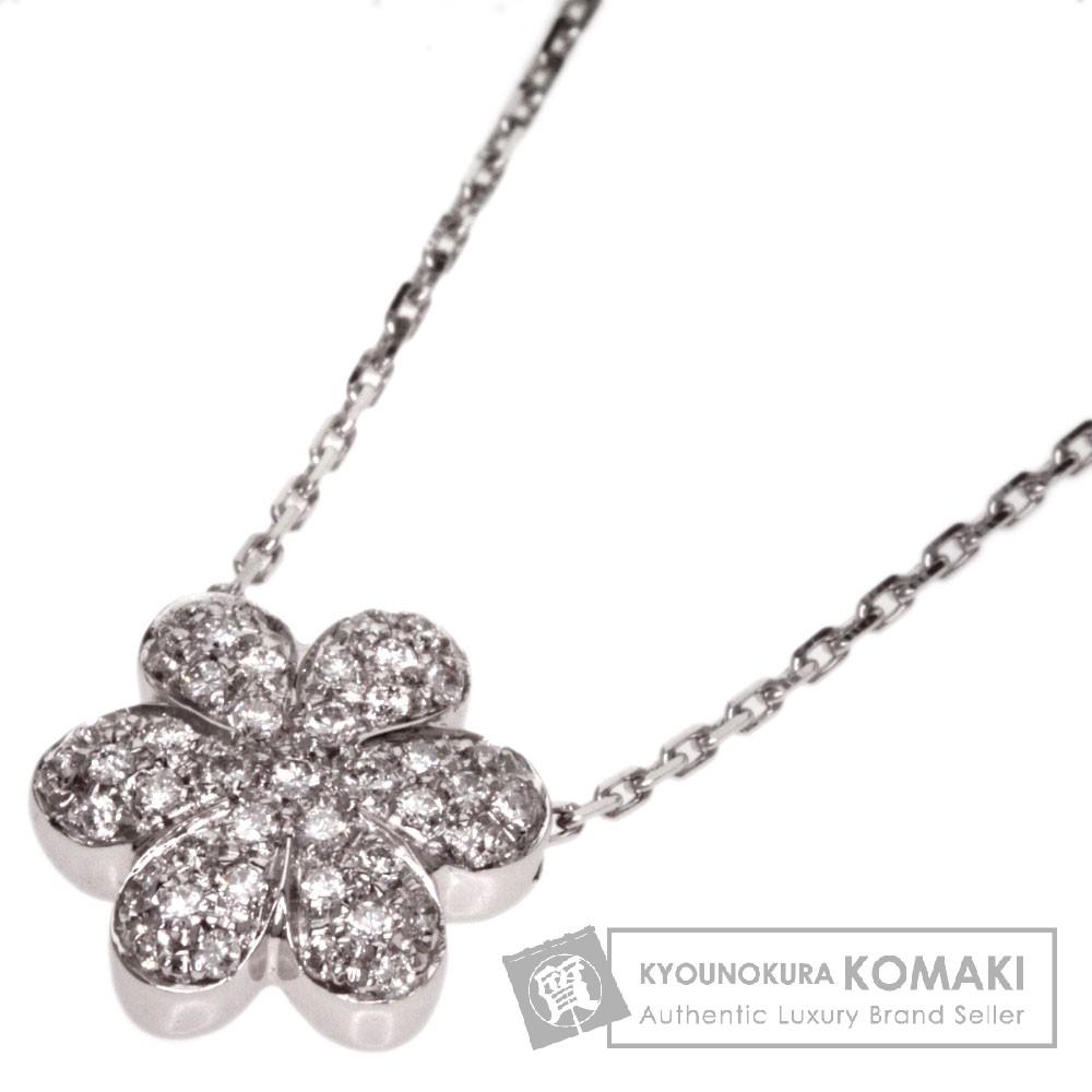 MIKIMOTO【ミキモト】 ダイヤモンド ネックレス K18ホワイトゴールド レディース 【中古】