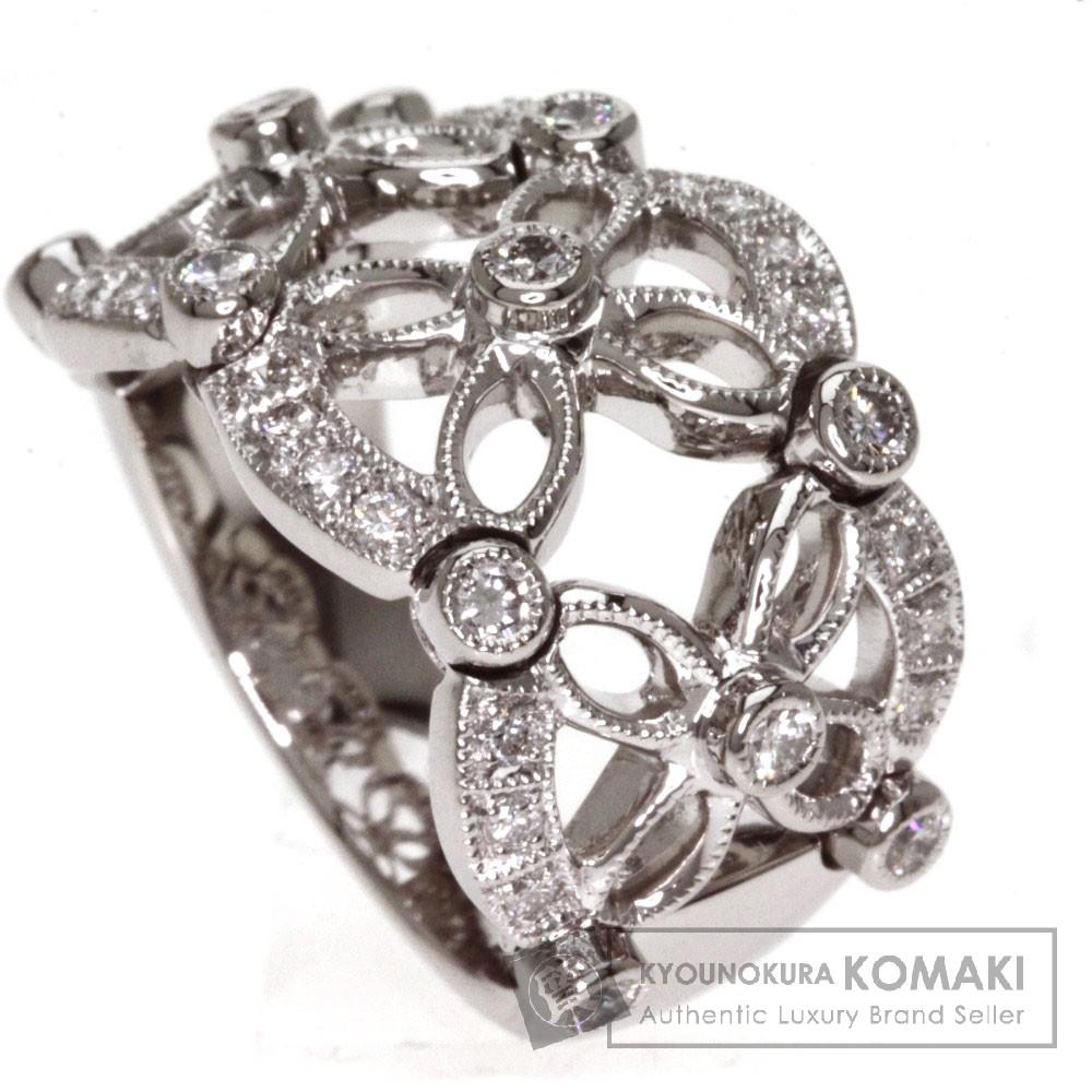 0.58ct ダイヤモンド リング・指輪 プラチナPT900 15.7g レディース 【中古】