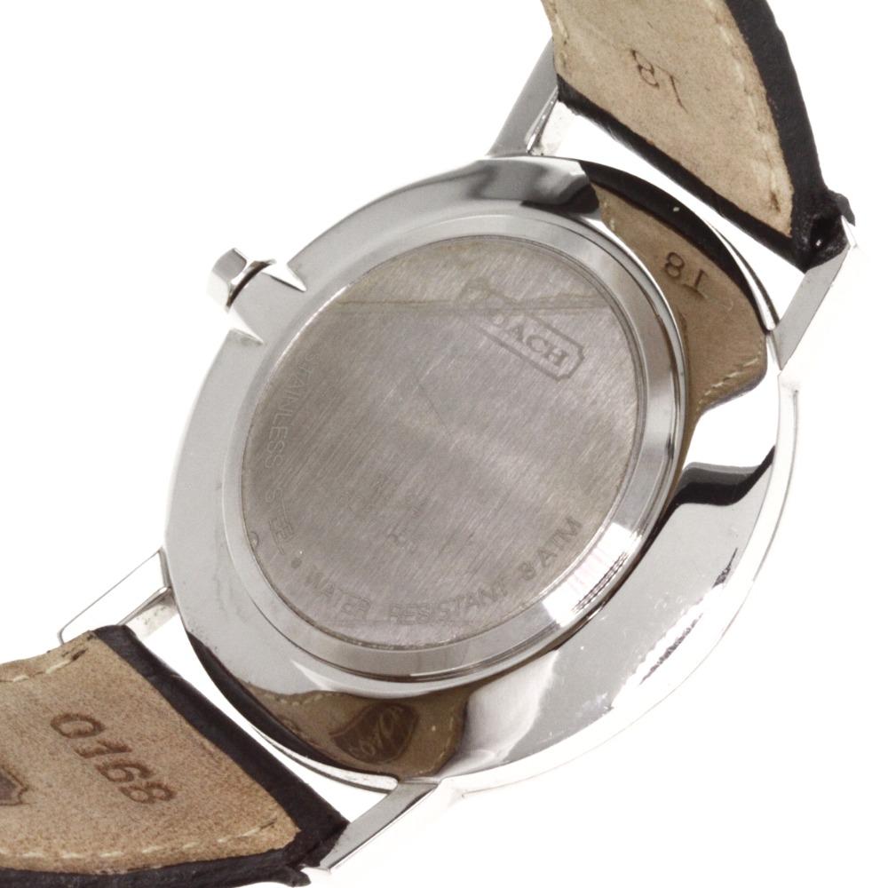 COACH W134手表不锈钢/皮革人