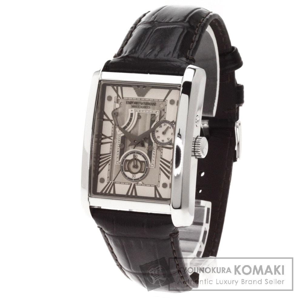 Emporio Armani AR4243-30 腕時計 ステンレス/革 メンズ 【中古】【エンポリオ・アルマーニ】