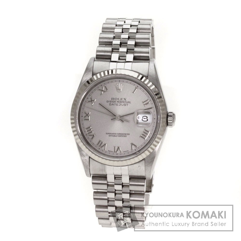 ROLEX Ref.16234 オイスタパーペチュアル デイトジャスト 腕時計 OH済 ステンレス/SS メンズ 【中古】【ロレックス】