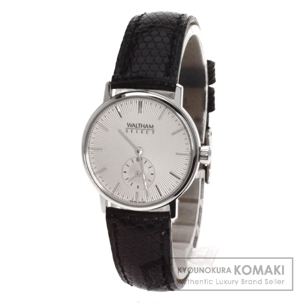 WALTHAMT2917 セレクト 腕時計 K18ホワイトゴールド/リザード レディース 【中古】【ウォルサム】