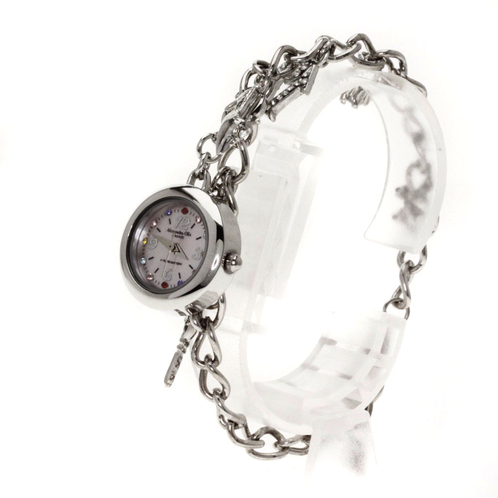 ALESSANDRA OLLA水晶手表不锈钢/SS女士