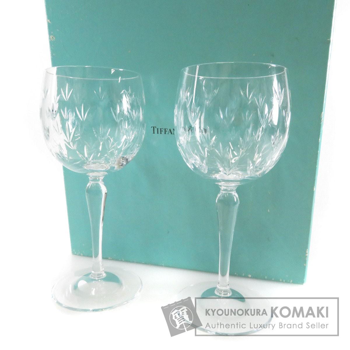 TIFFANY&Co. ペアワイングラス グラス クリスタル ユニセックス 【中古】【ティファニー】