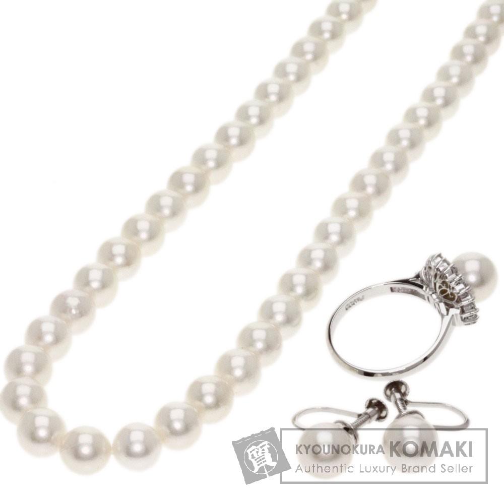 真珠 3点セット ネックレス シルバー/Pt900 32.7g レディース 【中古】