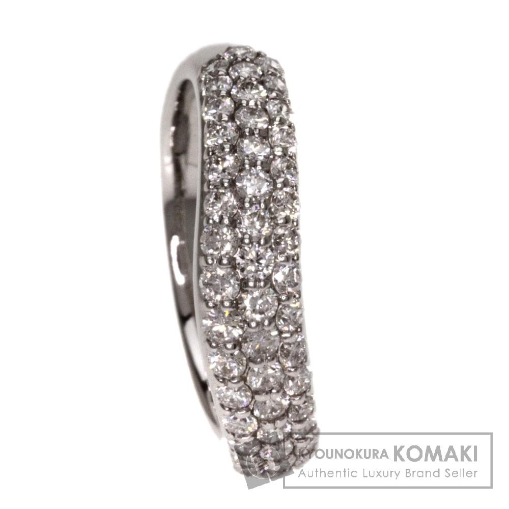1.00ct ダイヤモンド リング・指輪 K18ホワイトゴールド 4.4g レディース 【中古】
