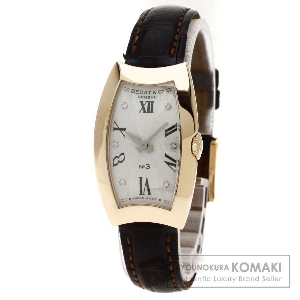 BEDAT&Co Ref.384 NO.3 6Pダイヤモンド 腕時計 K18ピンクゴールド/アリゲーター レディース 【中古】【ベダ&カンパニー】