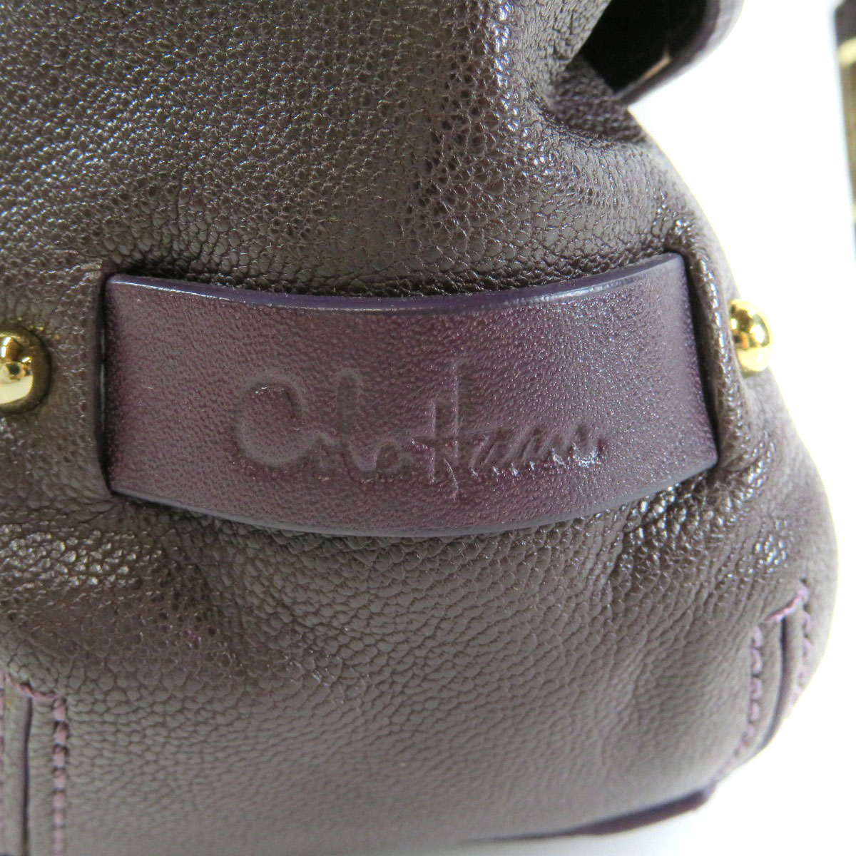 The design handbag leather Lady's which includes Cole Haan knitting