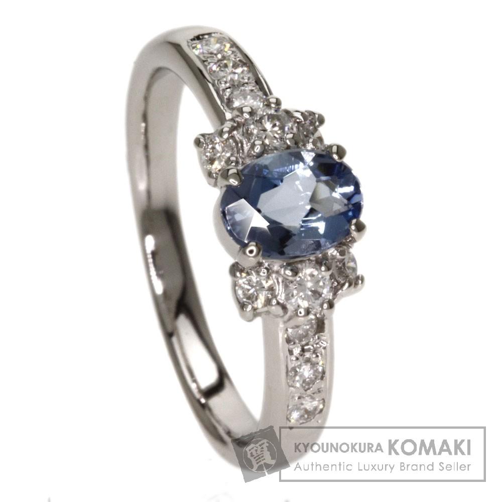 0.61ct アクアマリン/ダイヤモンド リング・指輪 プラチナPT900 6.3g レディース 【中古】