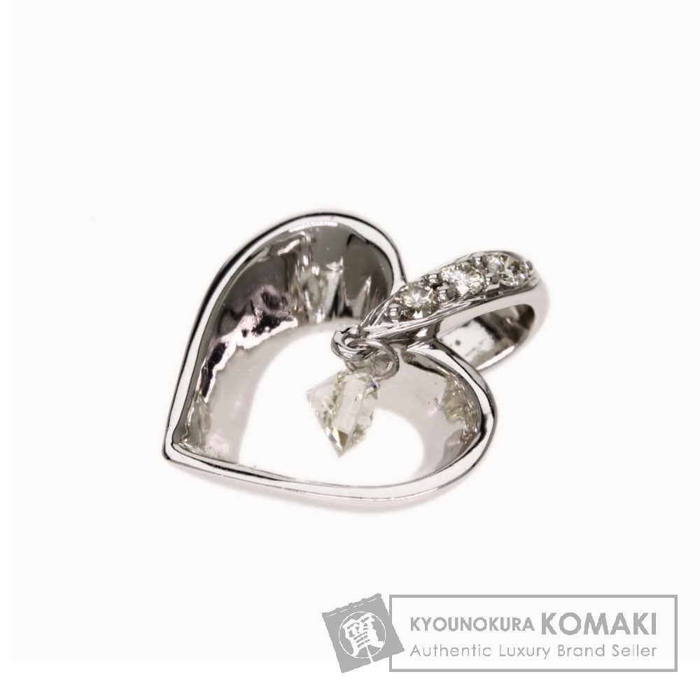 0.12ct ダイヤモンド ペンダントトップ K18ホワイトゴールド 1.1g レディース 【中古】