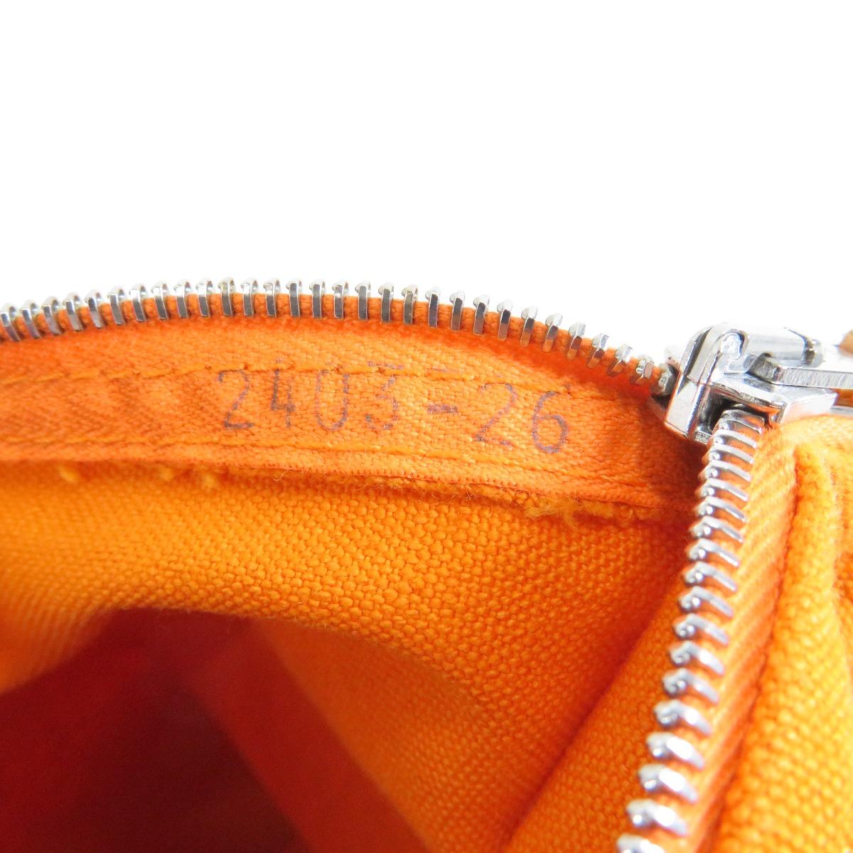 HERMES布拉风布拉风3分安排化妆袋帆布女士