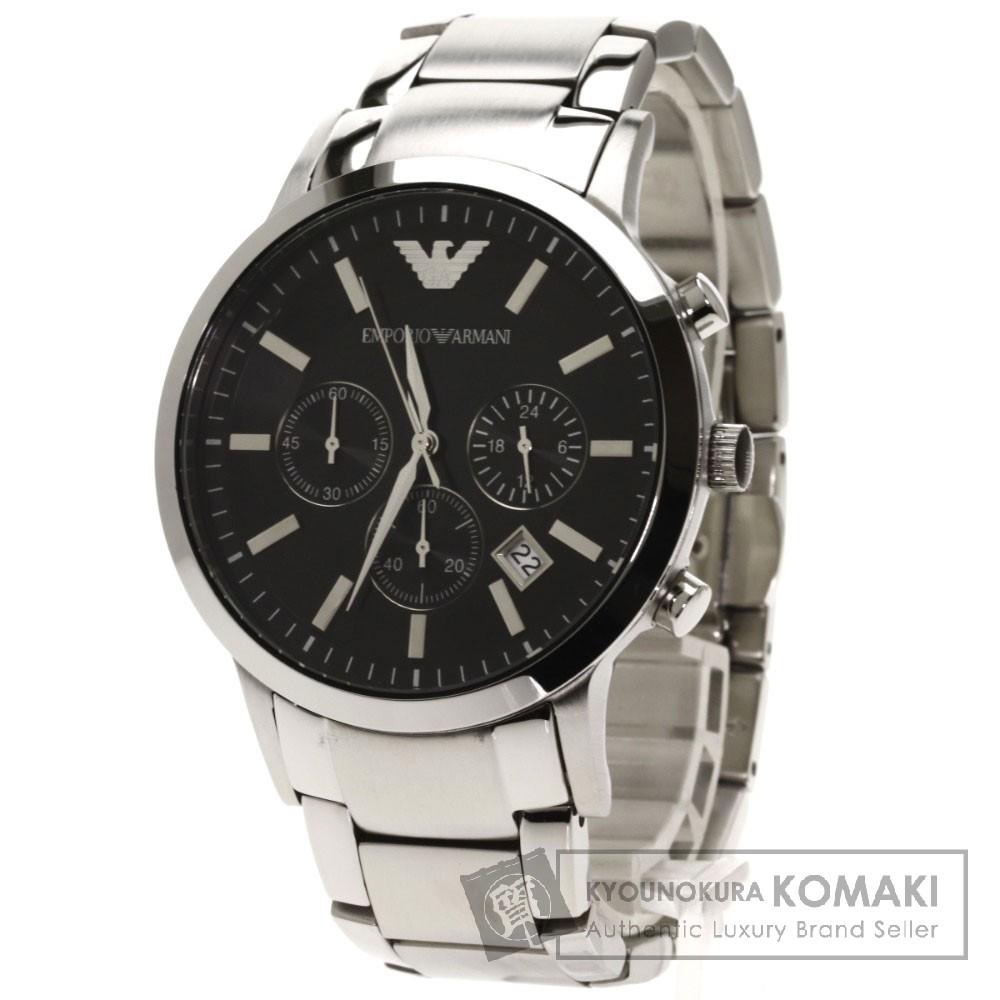 Emporio Armani AR-2434 腕時計 ステンレス/SS メンズ 【中古】【エンポリオ・アルマーニ】