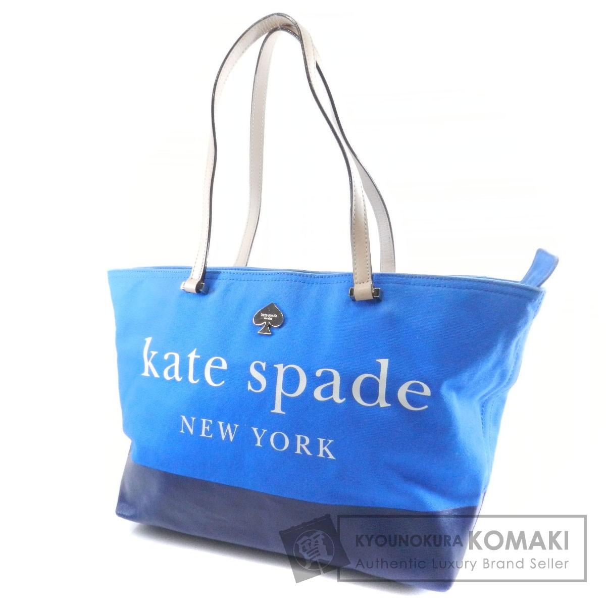 kate spade ロゴモチーフ トートバッグ キャンバス レディース 【中古】【ケイトスペード】
