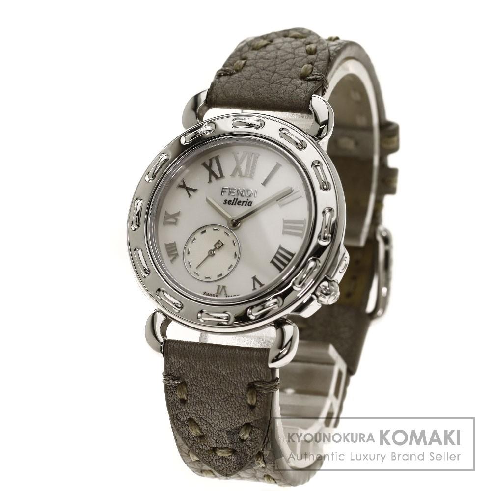 FENDI8100M セレリア 腕時計 ステンレス/革 レディース 【中古】【フェンディ】