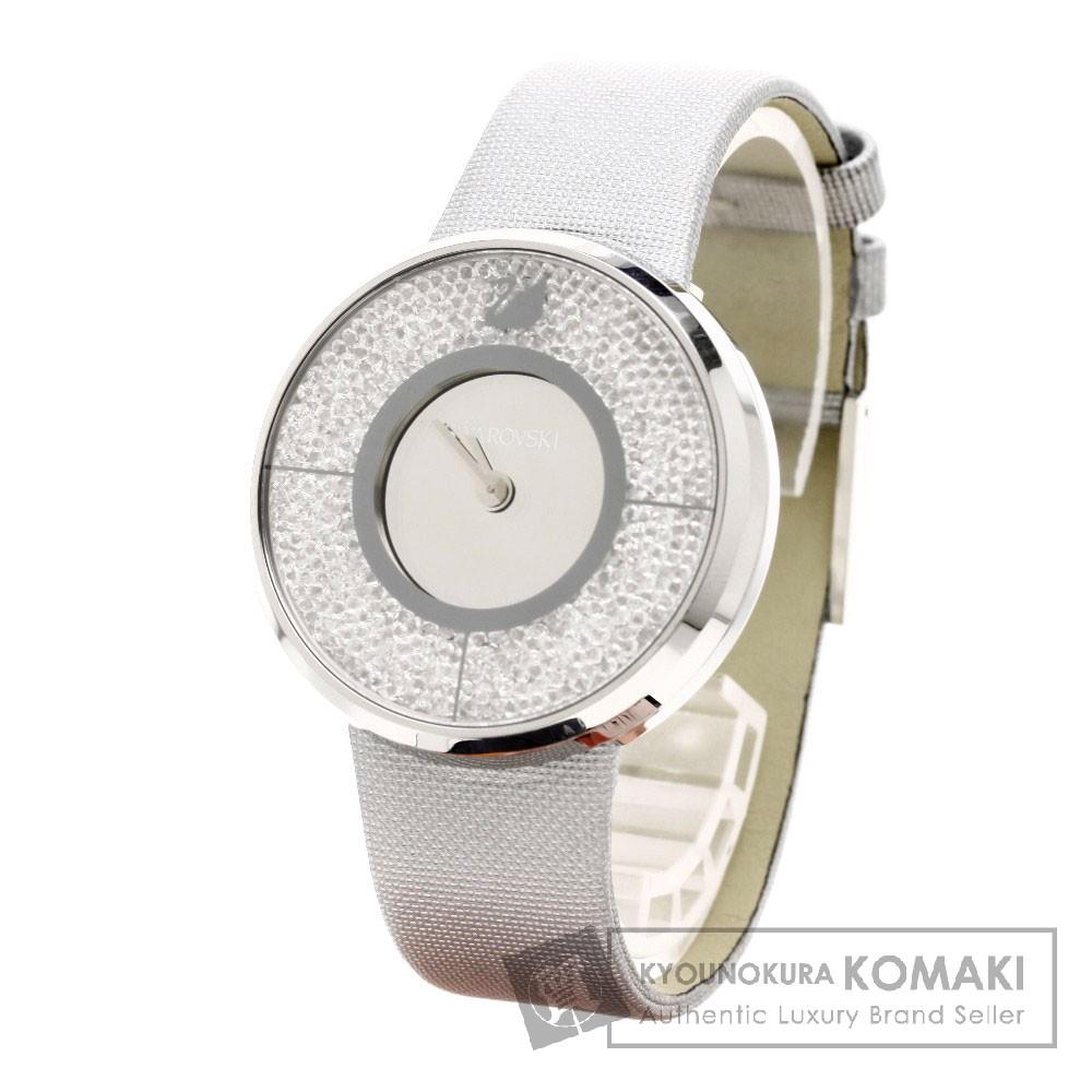 SWAROVSKI クリスタルライン 腕時計 ステンレス/レザー レディース 【中古】【スワロフスキー】
