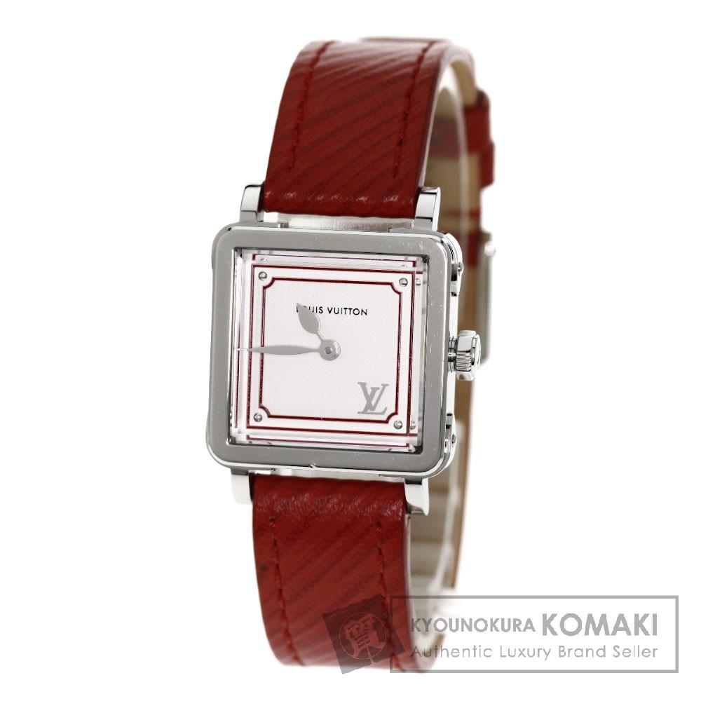 LOUIS VUITTONQ32MOA アンプリーズPM 腕時計 ステンレス/レザー レディース 【中古】【ルイ・ヴィトン】