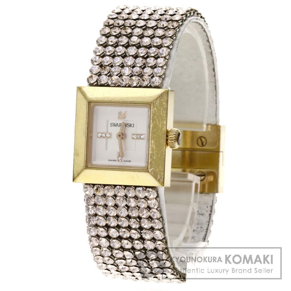 SWAROVSKI1124135 エリス 腕時計 ステンレス/革 レディース 【中古】【スワロフスキー】