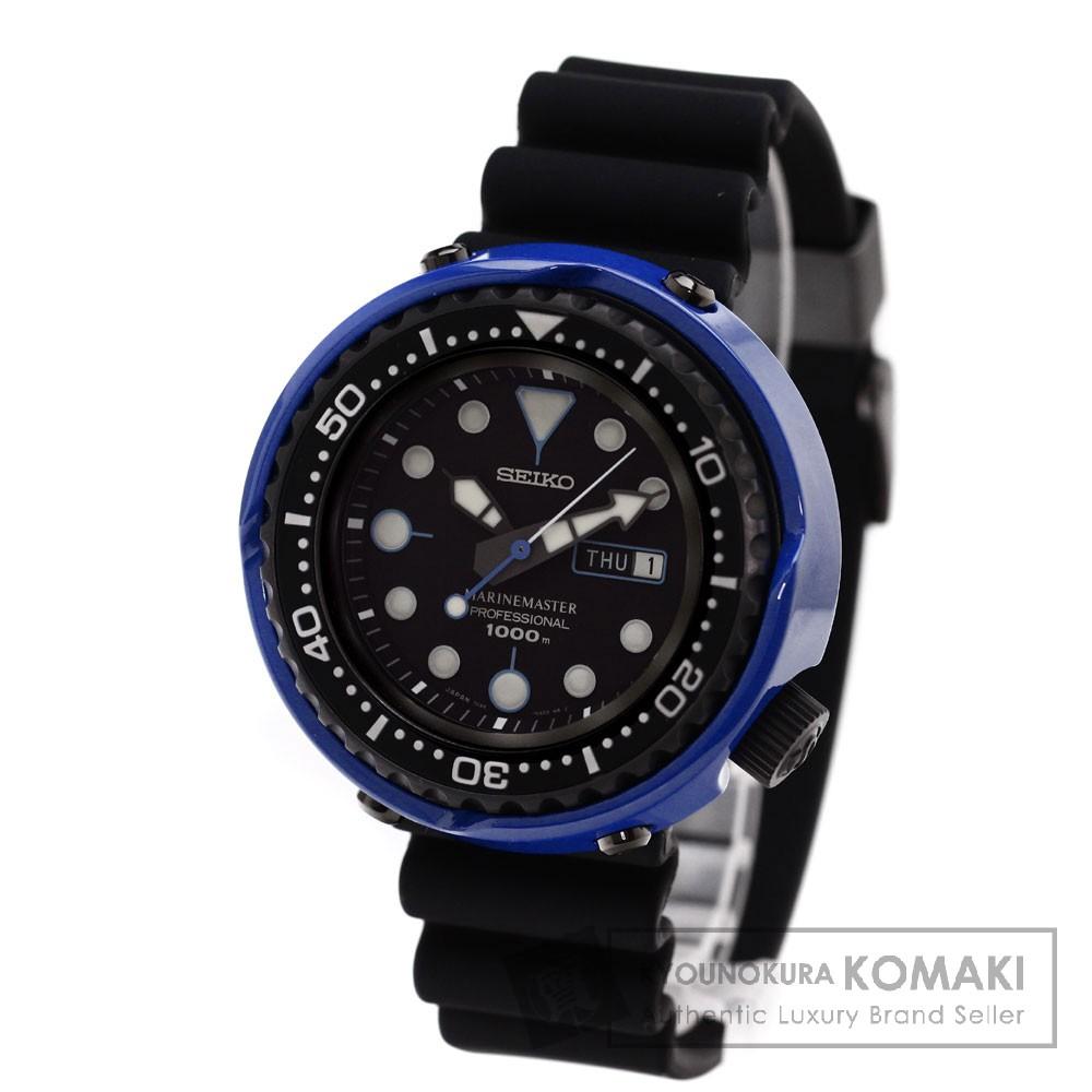 SEIKO7C46-0AE0 マリーンマスター 130周年記念モデル 腕時計 ステンレス/ラバー/チタン/セラミック メンズ 【中古】【セイコー】