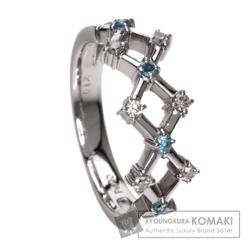 0.12ct トルマリン/ダイヤモンド リング・指輪 プラチナPT900 6.4g レディース 【中古】