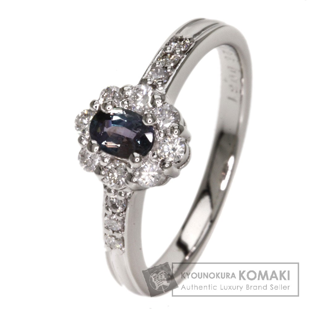 0.25ct アレキサンドライト/ダイヤモンド リング・指輪 プラチナPT900 4.4g レディース 【中古】