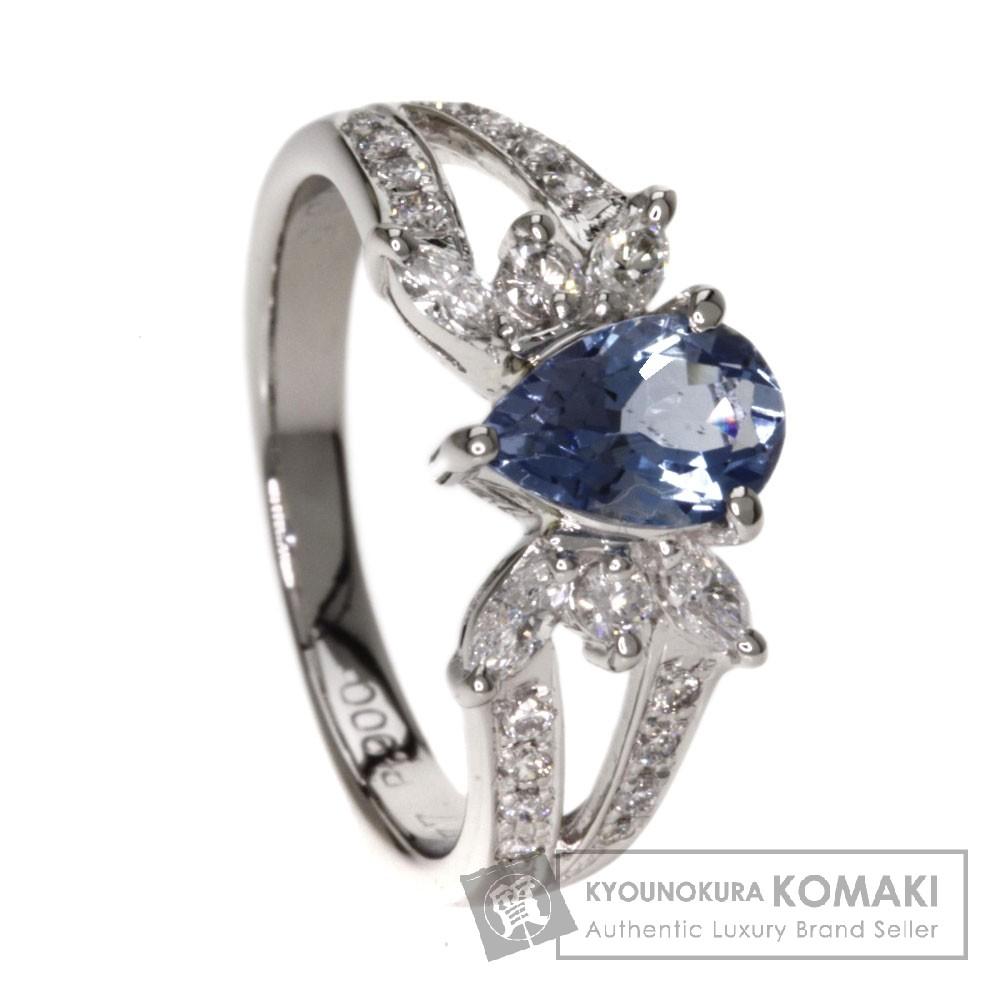 0.77ct アクアマリン/ダイヤモンド リング・指輪 プラチナPT900 5.5g レディース 【中古】