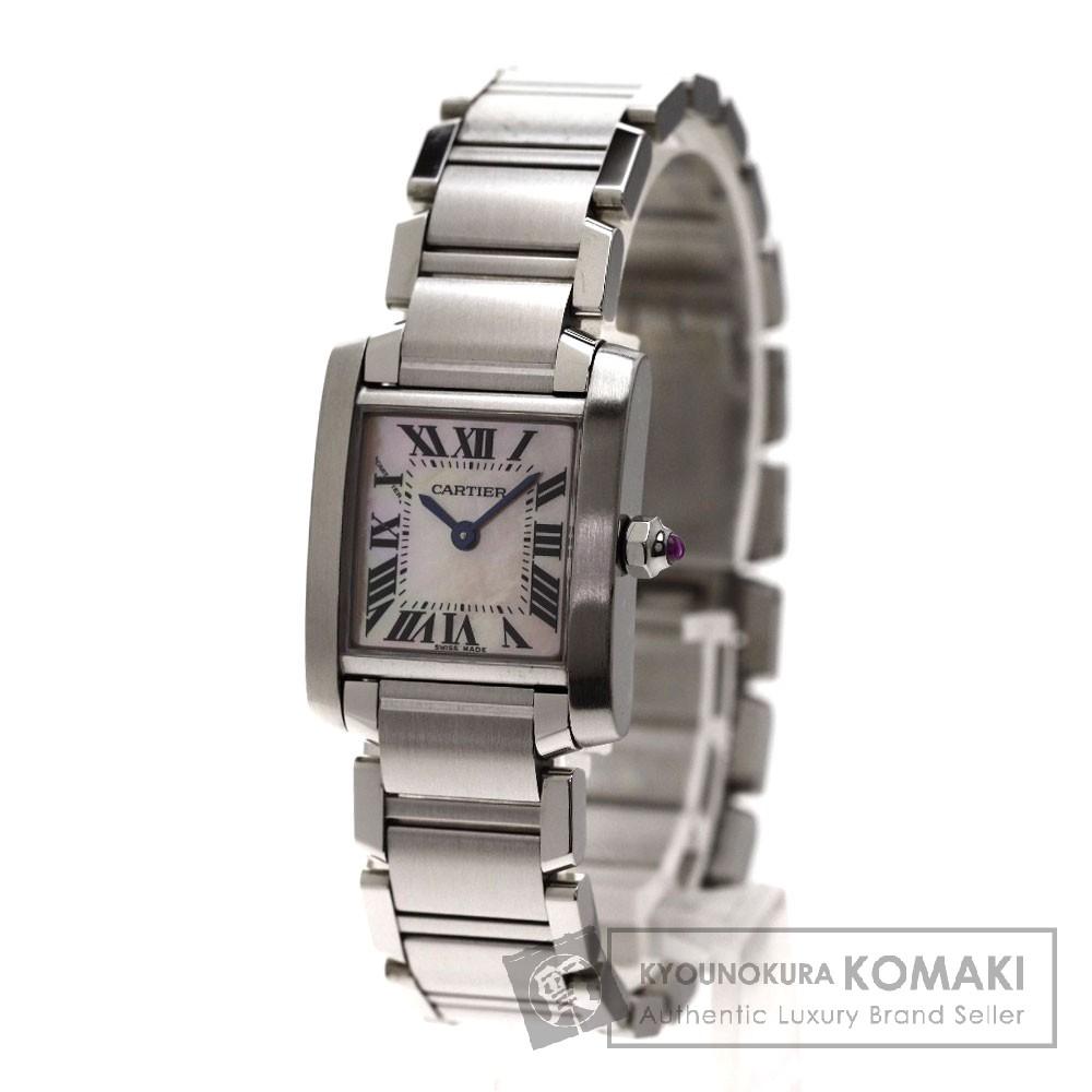 CARTIER タンクフランセーズ゛SM 腕時計 ステンレス レディース 【中古】【カルティエ】