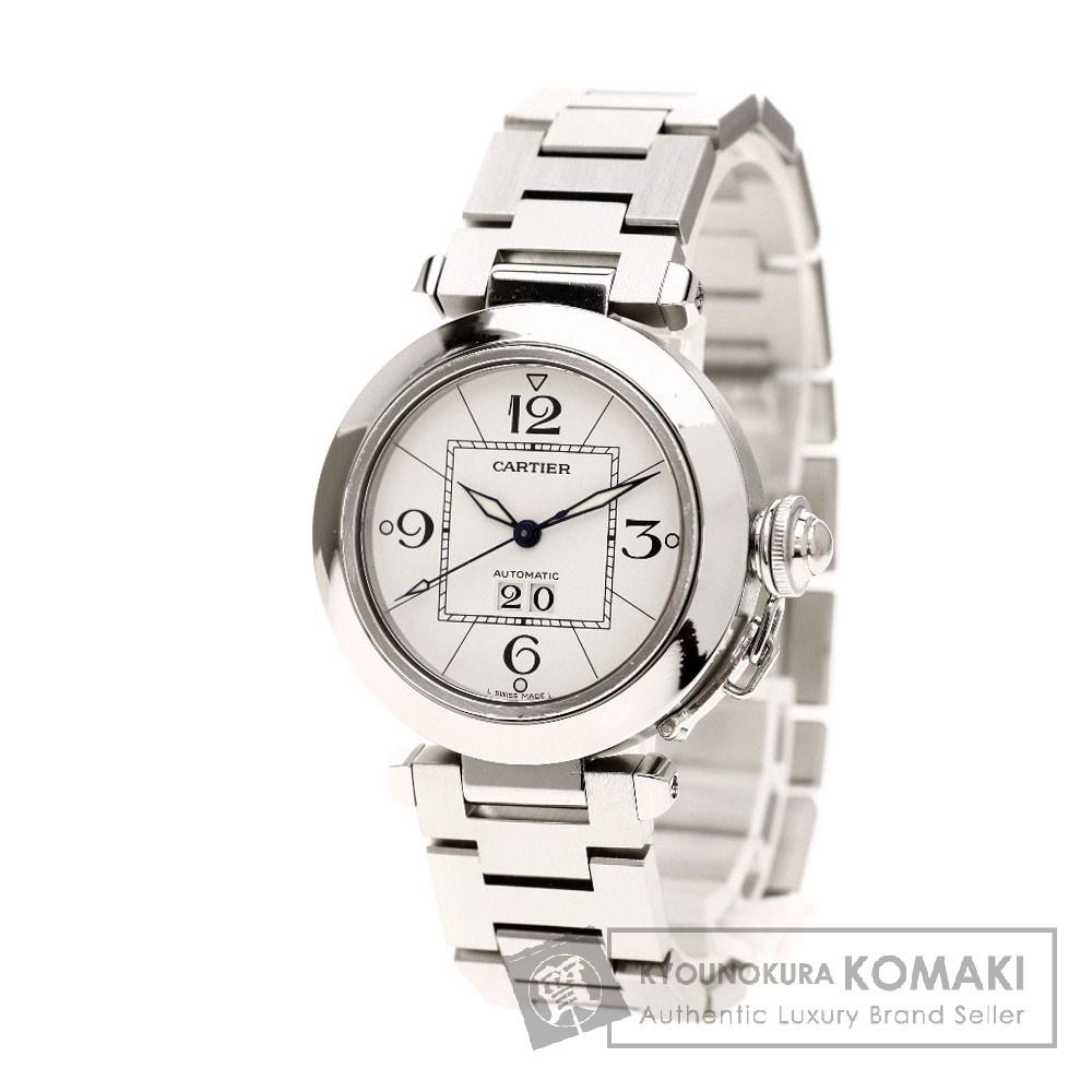 CARTIER 2475 パシャC ビッグデイト 腕時計 OH済 ステンレス ボーイズ 【中古】【カルティエ】
