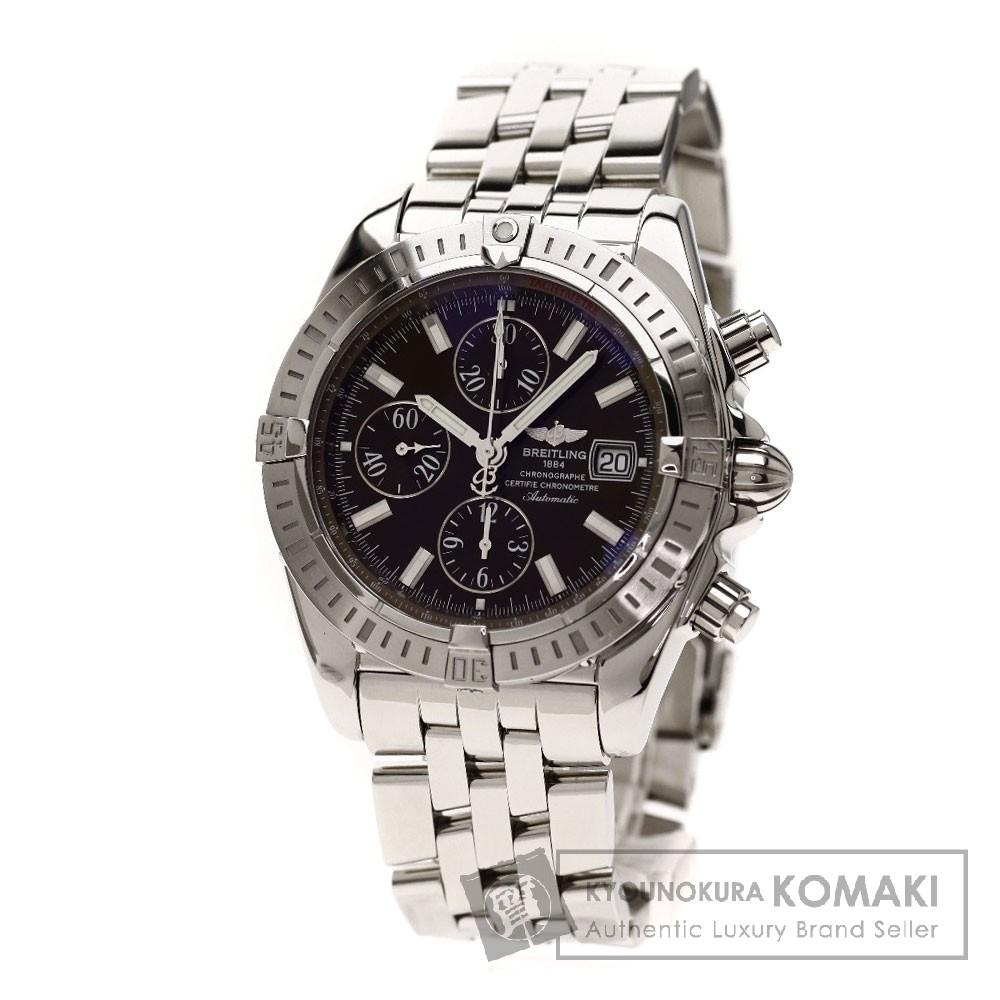 BREITLING A13356/A156Q25PA クロノマット エボリューション 日本限定400本 腕時計 OH済 ステンレス メンズ 【中古】【ブライトリング】