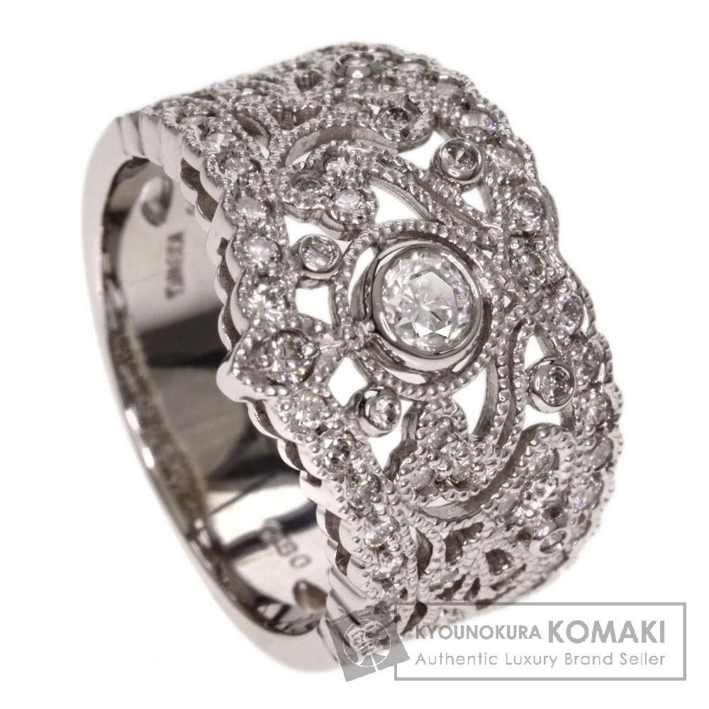 0.8ct ダイヤモンド リング・指輪 K18ホワイトゴールド 7.6g レディース 【中古】