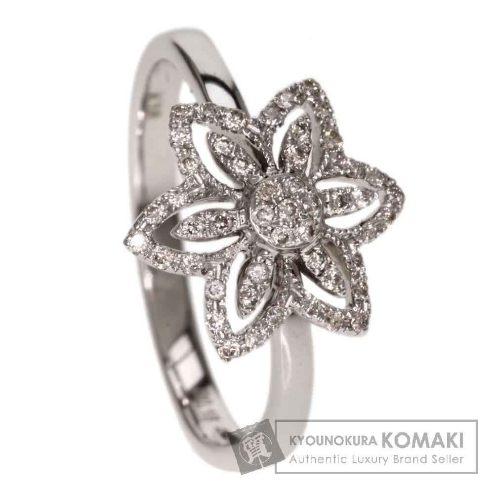 0.18ct ダイヤモンド リング・指輪 K18ホワイトゴールド 2.9g レディース 【中古】