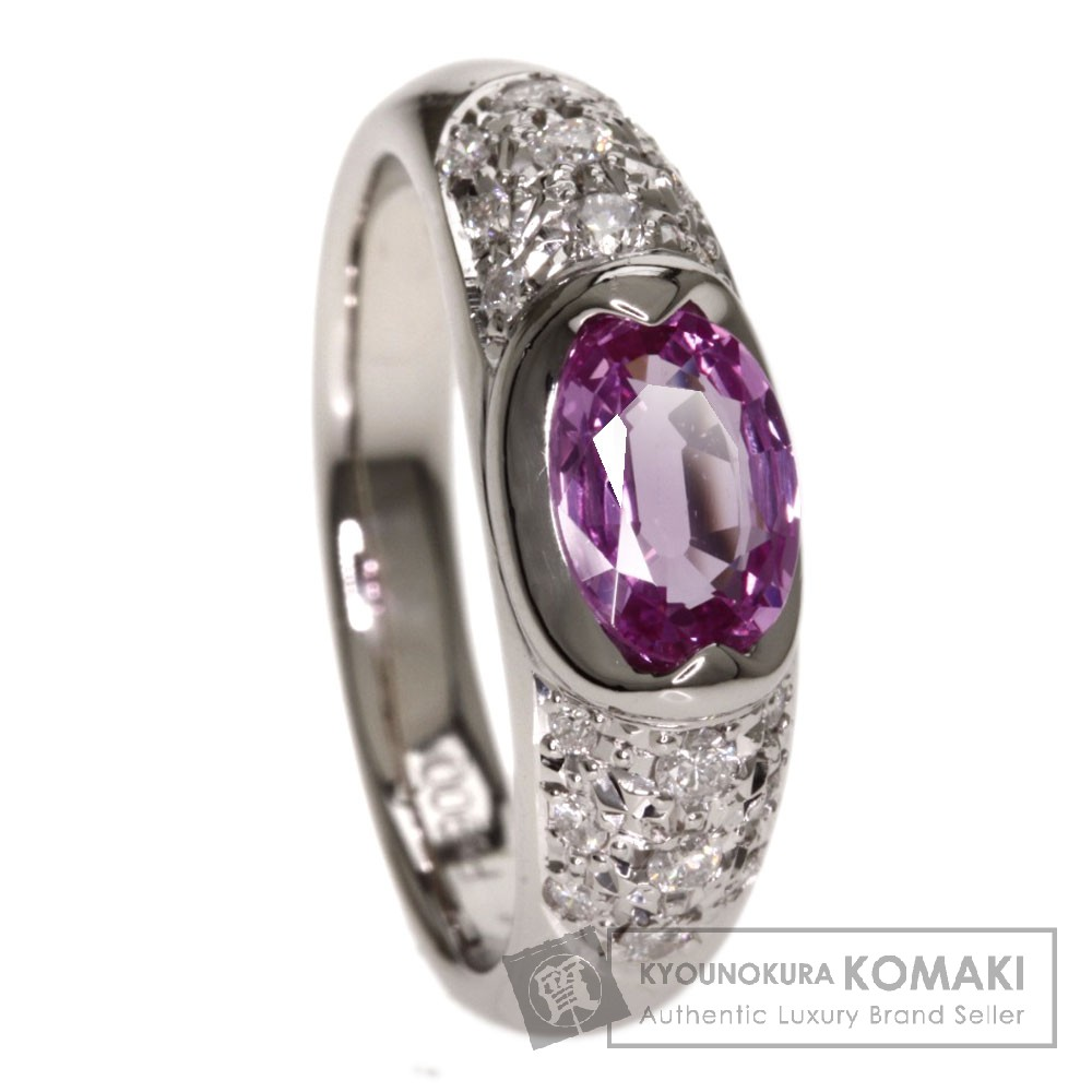 0.94ct ピンクサファイア/ダイヤモンド リング・指輪 プラチナPT900 6.9g レディース 【中古】