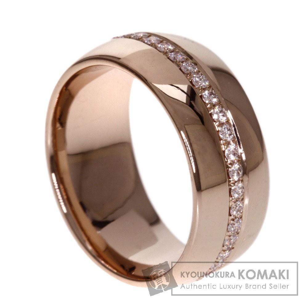 0.46ct ダイヤモンド リング・指輪 K18ピンクゴールド 9g レディース 【中古】