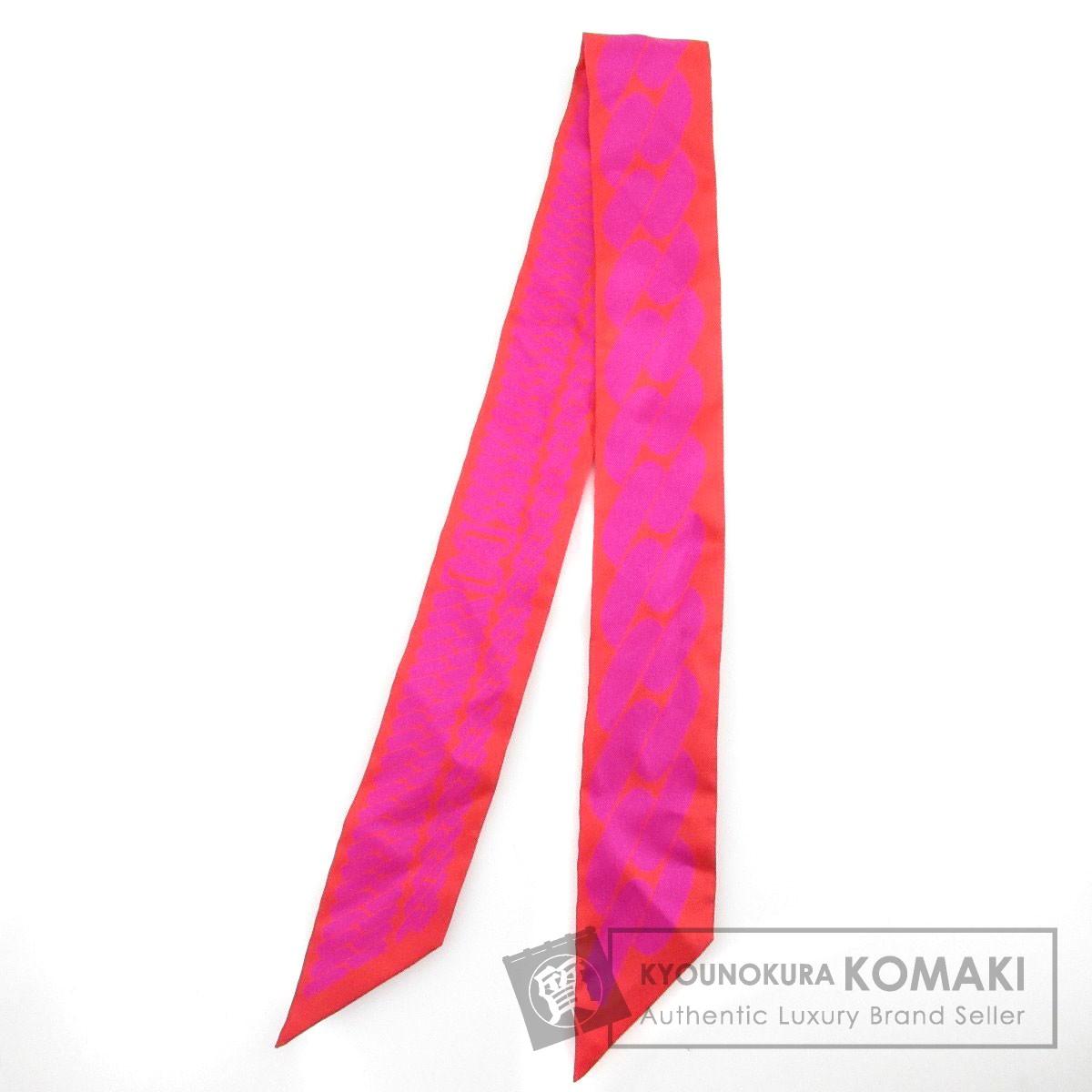 HERMES ツイリー clic c est noue スカーフ シルク レディース 【中古】【エルメス】