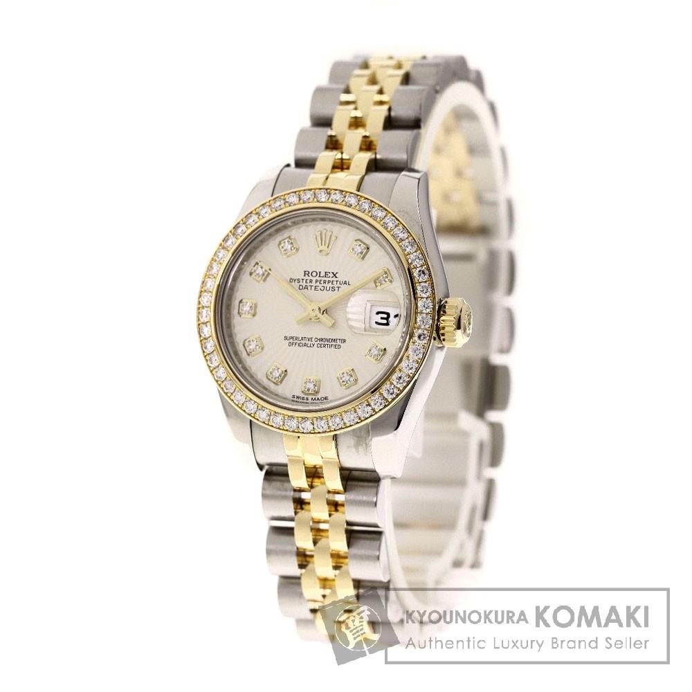 ROLEX 179383G デイトジャスト ベゼル 10Pダイヤモンド 腕時計 ステンレス/SSxK18YG/ダイヤモンド レディース 【中古】【ロレックス】