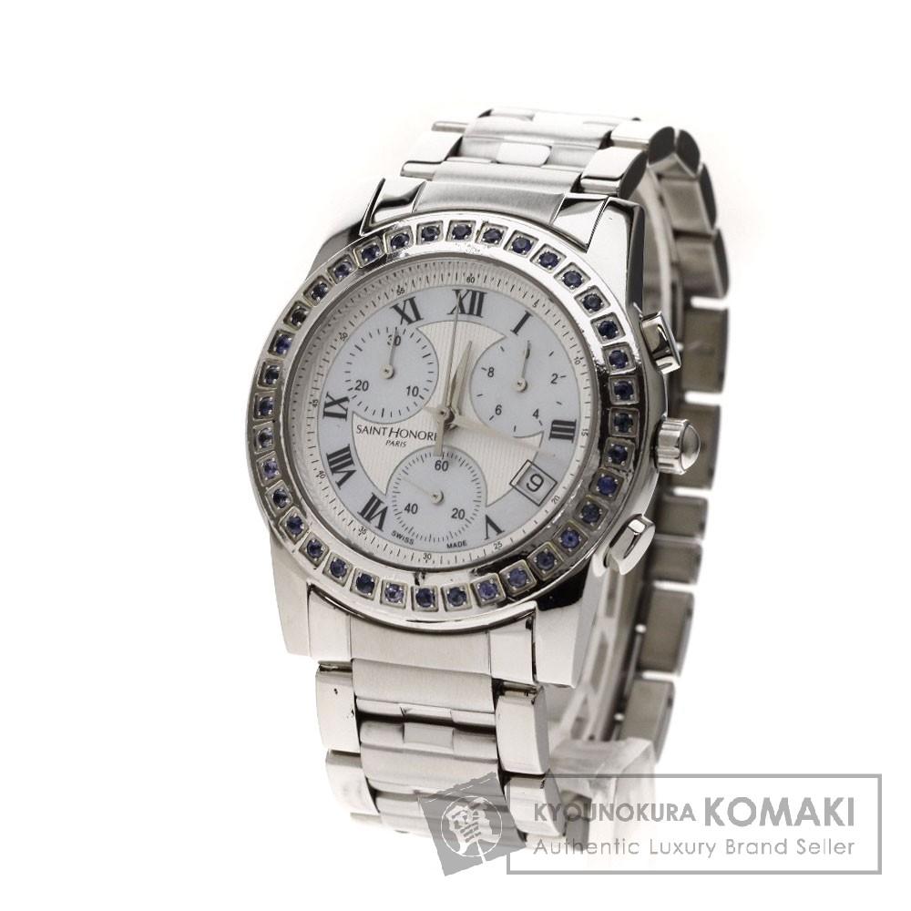 SAINT HONORE クロノグラフ 腕時計 ステンレス レディース 【中古】【サントノーレ】