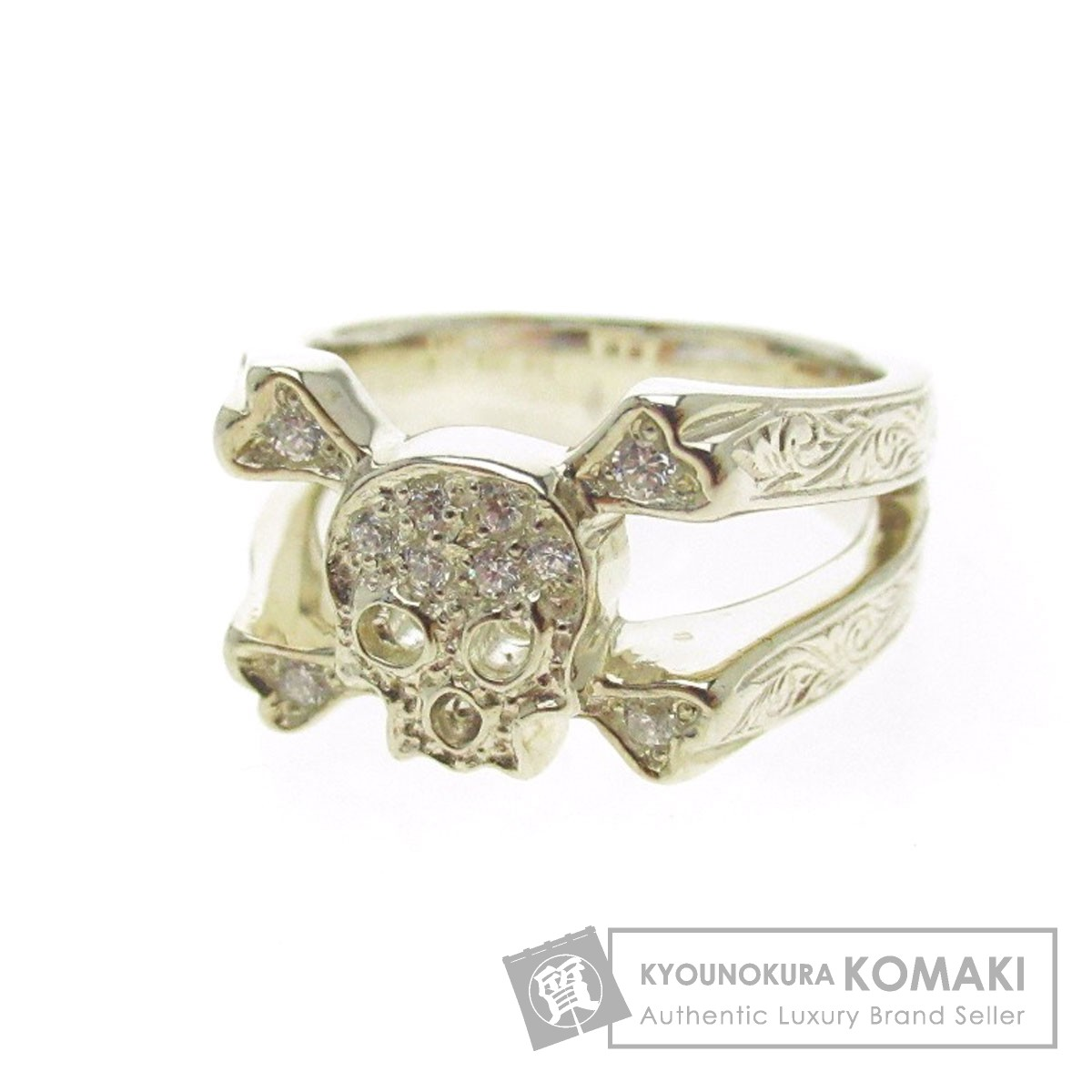Loree Rodkin R6811A-886 スカル リング・指輪 シルバー メンズ 【中古】【ローリーロドキン】