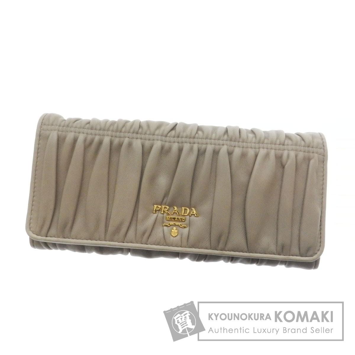 PRADA 1M1132 長財布(小銭入れあり) レザー レディース 【中古】【プラダ】