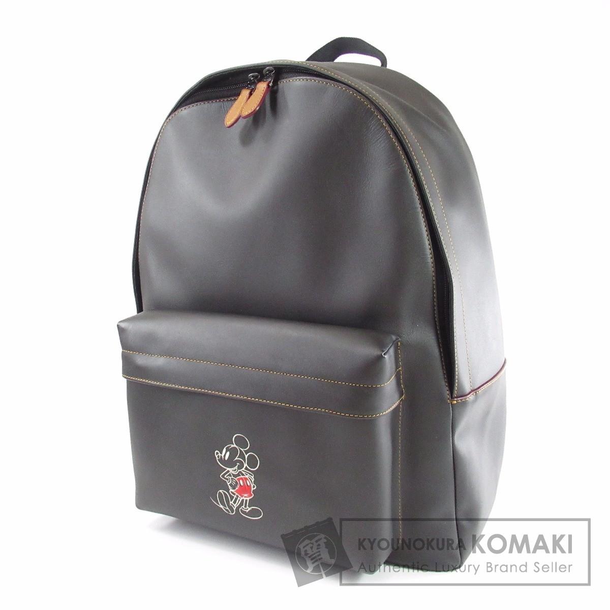 COACH ミッキーコラボ F59018 リュック・デイパック レザー レディース 【中古】【コーチ】