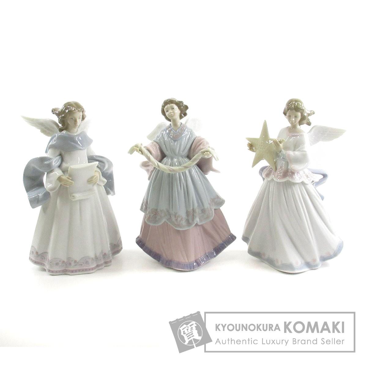 Lladro 天使 3体セット オブジェ 陶器 レディース 【中古】【リヤドロ】