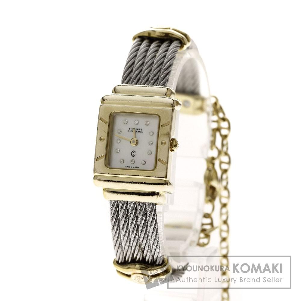 PHILIPPE CHARRIOL サントロペ 腕時計 ステンレス/SSxGP レディース 【中古】【フィリップ・シャリオール】