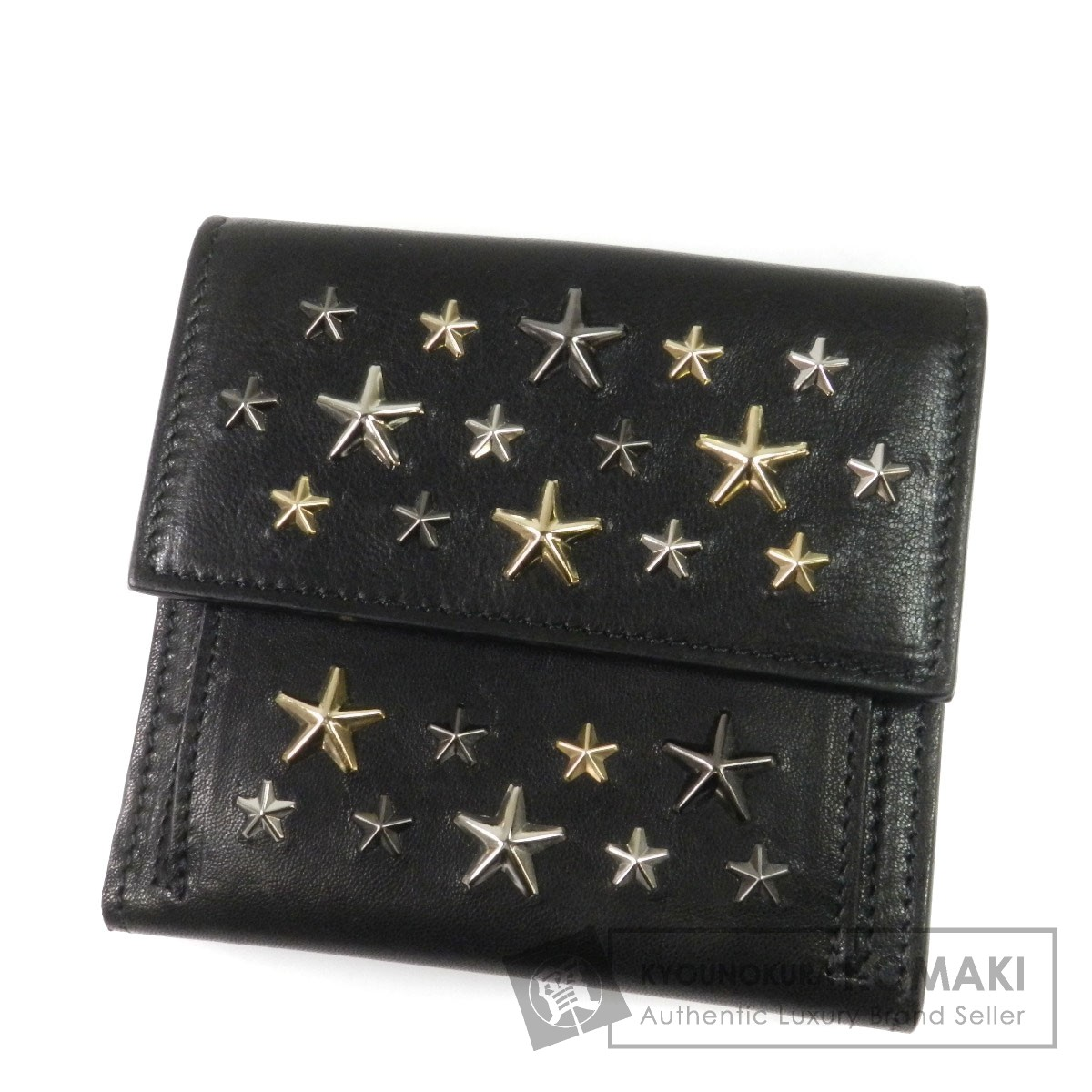 Jimmy Choo 星 二つ折り財布(小銭入れあり) レザー レディース 【中古】【ジミーチュウ】