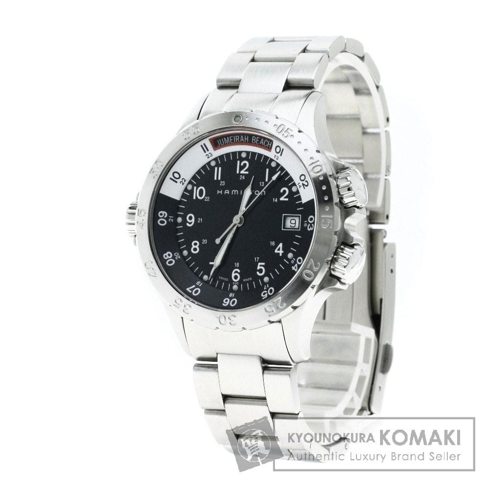 HAMILTON H745110 カーキ ネイビー 腕時計 ステンレス メンズ 【中古】【ハミルトン】