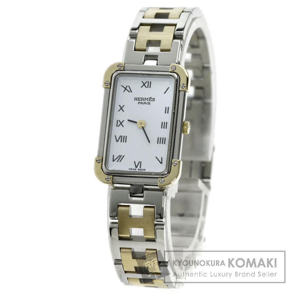 HERMES CR1.220 クロアジュール 腕時計 GP/SS レディース 【中古】【エルメス】