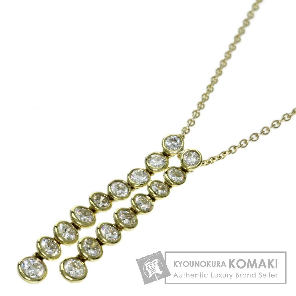 TIFFANY&Co. ダイヤモンド ネックレス K18イエローゴールド レディース 【中古】【ティファニー】