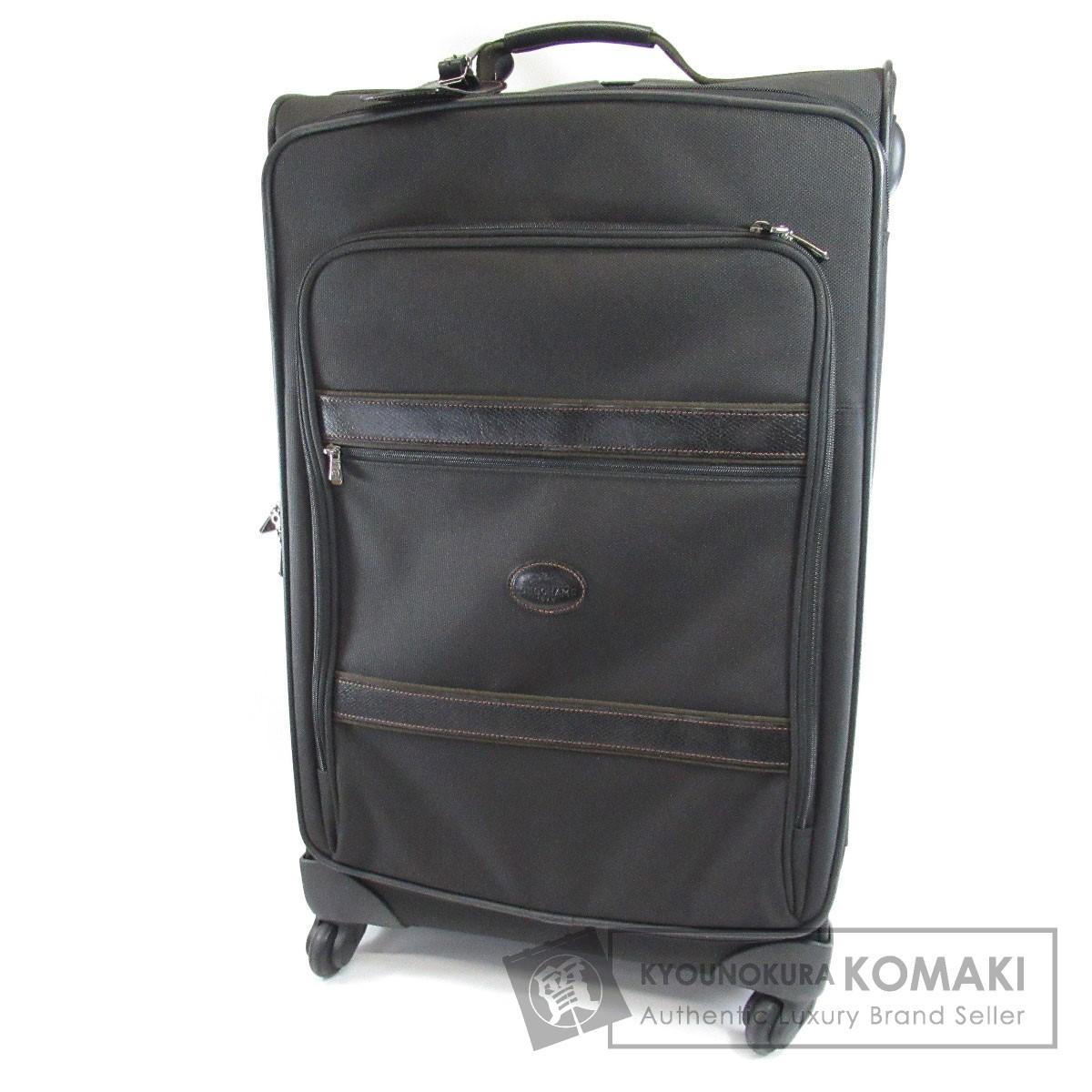 Longchamp ロゴモチーフ キャリーバッグ キャンバス レディース 【中古】【ロンシャン】