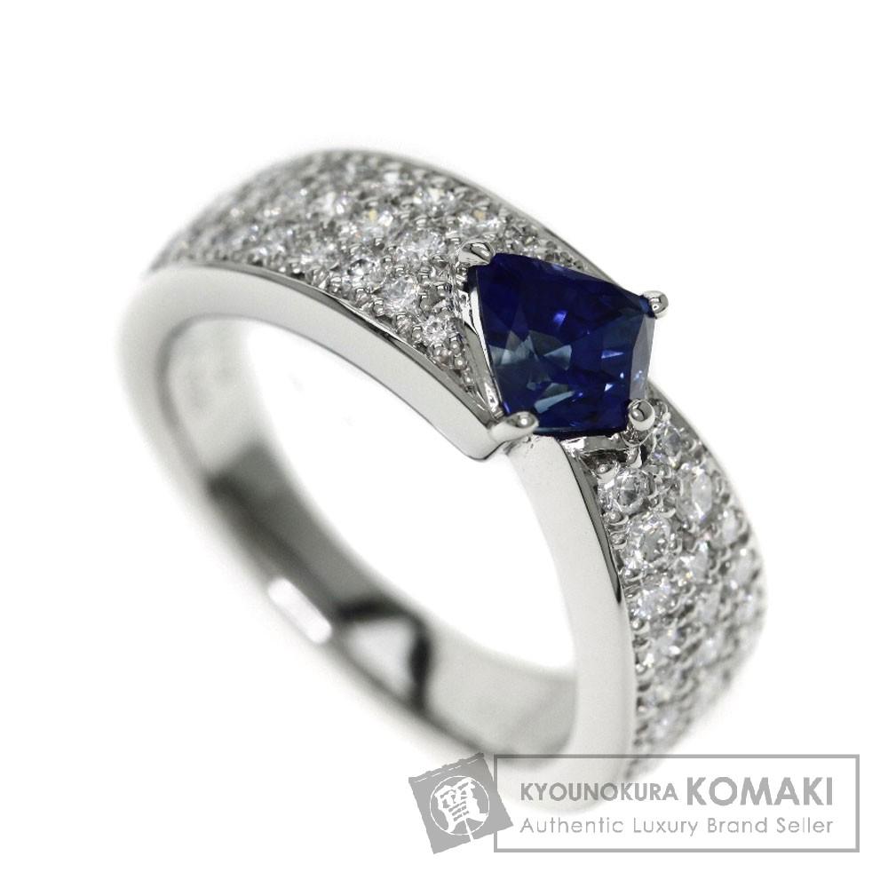 1.079ct サファイア/ダイヤモンド リング・指輪 プラチナPT900 10.2g レディース 【中古】