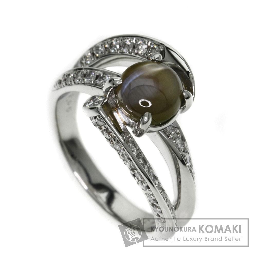 2.33ct キャッツアイ/ダイヤモンド リング・指輪 プラチナPT900 9.5g レディース 【中古】