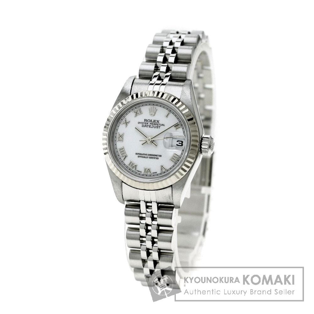 ROLEX 79174 デイトジャスト 腕時計 K18ホワイトゴールド/SS レディース 【中古】【ロレックス】
