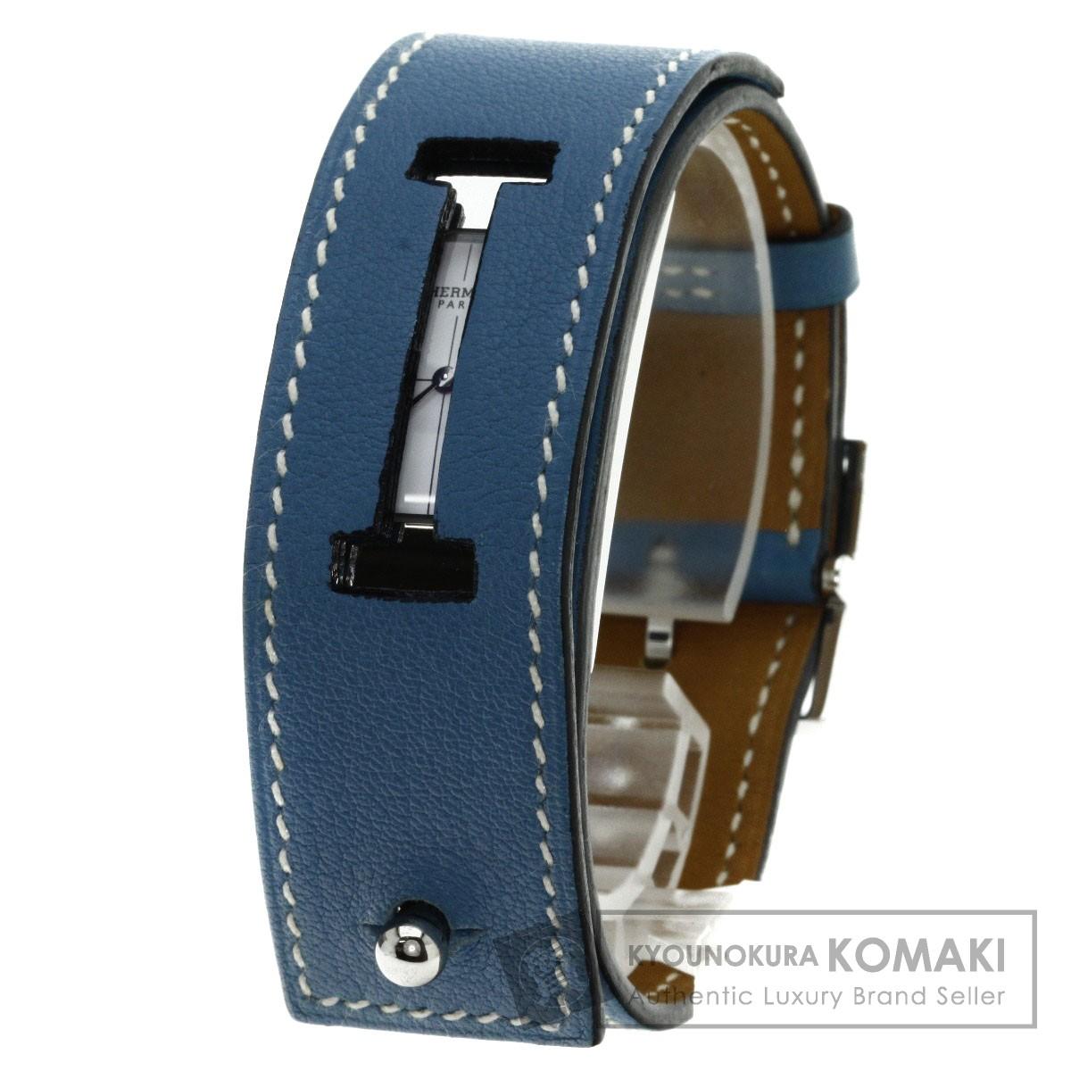 HERMES CM1.210 シェルシュミディ 腕時計 ステンレス/革 レディース 【中古】【エルメス】