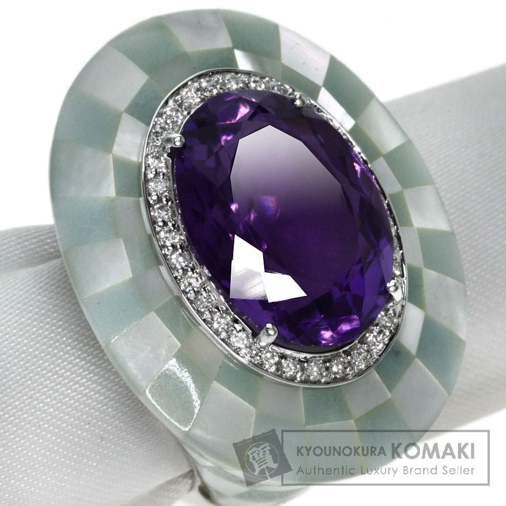 Queen アメジスト/ダイヤモンド リング・指輪 K18ホワイトゴールド レディース 【中古】【クイーン】